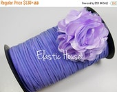 "Clearance 35% OFF 1/8"" Skinny Elastic - Lavender Color - Purple Skinny Elastic - Lavender Skinny Elastic - Hair Accessories Supplies"