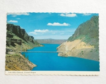 vintage lake billy chinook central oregon postcard