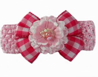 Baby Headband Flower, Baby Headband Bow, Pink Baby Headband, Baby Head Band, Toddler Head Band, Pink Headband, Hair Accessories