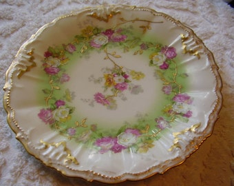 Knowles Gold Garland Cake Plate