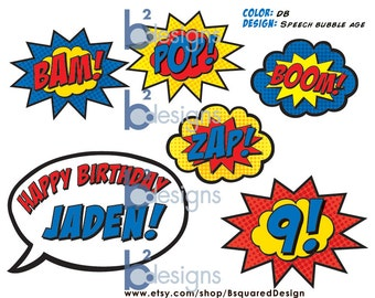Superhero Cake Topper PRINTABLE