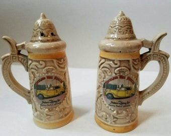 Movieland Wax Museum salt & pepper shakers, vintage Hollywood collectibles, 1960s California kitschy