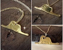 The Little Prince Inspired Necklace - Elephant Snake necklace - Le Petit Prince Inspired - Pequeno Principe - 14k gold plated brass