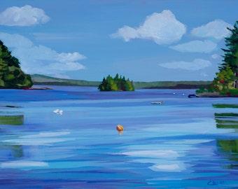 Maine Landscape Painting Millinocket Lake 3