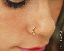 Nose Ring Hoop, gold or silver nose hoop Nose Piercing, Tragus hoop Earring, Cartilage Earring, Helix Piercing