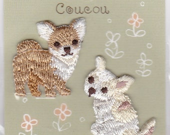 Chihuahua Dog  Embroidered Iron-on Applique Iron-on Patch (H457-878) Buy other items together for BETTER price.