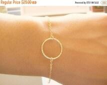 SALE - gold bracelet - gold Circle bracelet - small circle bracelet - freindship bracelet - Karma bracelet - dainty gold bracelet