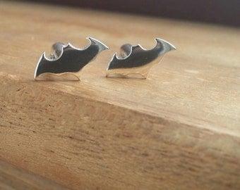Bat cuff links, Silver cuff links, Mens cuff links, Groom cufflinks, Wedding cuff links, Cuff links, Batman, Batman gift, Sterling Silver