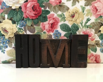 Vintage Letterpress Printing Blocks HOME