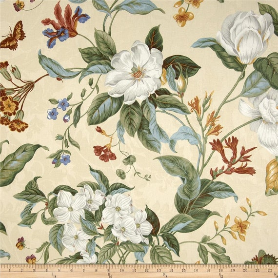 Waverly Garden Images Fabric Drapes From Small Curtains