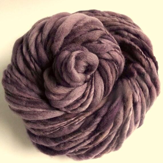 Knitting Handspun Wool : Purple handspun wool yarn thick and thin knitting