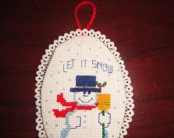 Let it Snow Snowman Christmas Tree Ornament
