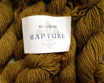 50% Off Rapture Wool Silk Renyolds Bulky Yarn Golden Brown 72 Yards