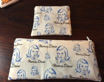 Nancy Drew Coin Purse or Pencil/Makeup Bag