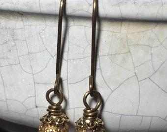 Swarovski Crystal Pink Beaded Dangle Earrings