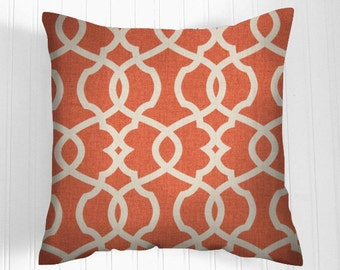 Orange Pillow Covers, Orange Decorative Pillows, Home Decor,  Throw Pillow Covers, Orange Throw Pillow  Orange Pillows