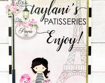 Parisian Girl Inspired Table Sign