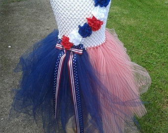 4th of July Tutu Dress, Independence Day, Memorial Day, 5T-6T dress, Holiday Dress