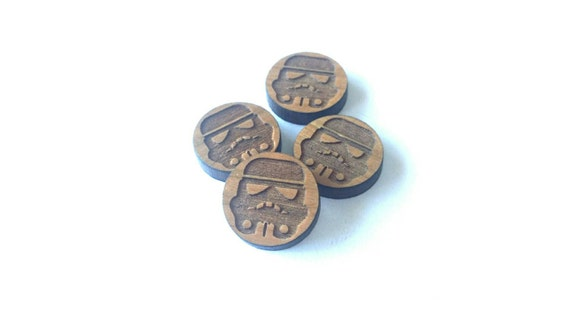 8 Pieces. Laser Cut Cherrywood Trooper shapes. Craft Supplies.  DIY Supplies