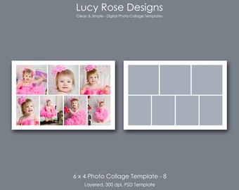 6 x 4 Photo Collage Template - 8