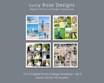 12 x 12 Photo Collage Templates - Set 2