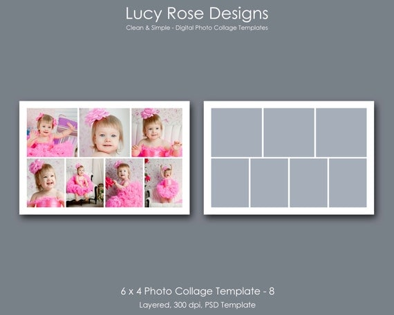 6 x 4 photo collage template 8 for 4 picture collage template