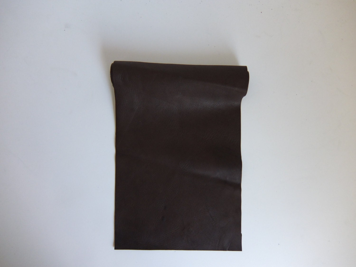 Dk brown tanned deerskin leather perfect for handbags for Leather sheets for crafting