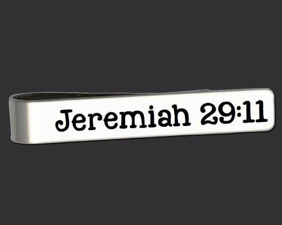 Bible Verse | Jeremiah 29:11 | Gifts for Men | Gift Ideas for Men | Fathers Day Gifts | Gifts for Dad | Personalized Tie Bar Korena Loves