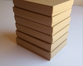 Set of 6 kraft jewelry boxes, 5.25 x 3.75 x 1 in. Necklace boxes with padding for jewelry makers or for other storage