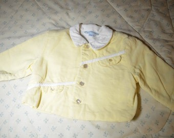Vintage Yellow Corduroy Jacket for a Baby from Marshall Field's Store