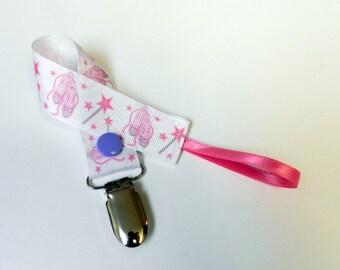 Baby Girl pacifier clip Little Ballerina pacifier clip holder Ballet shoes pacifier clip for baby girl,baby girl shower gift ready to ship