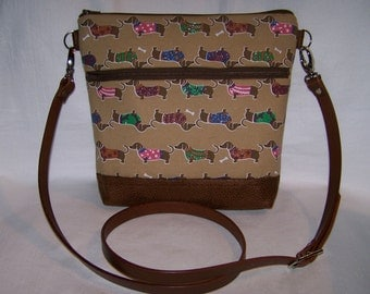 Dachshund-Wiener Dog Cross-Body Bag - Purse - Made to Order