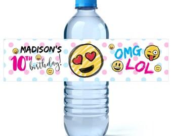 Water bottle labels | Etsy