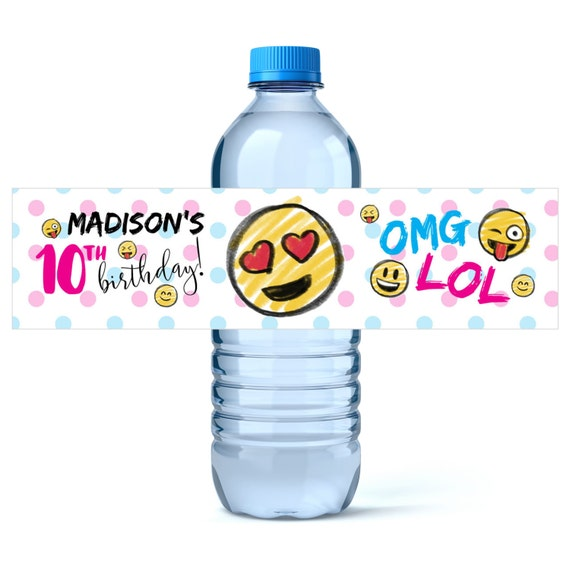 Personalized Printable Water Bottle Wrapper Birthday