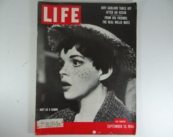 1954 Life Magazine, September 13,  Judy Garland - Judy as a Gamin - Willie Mays