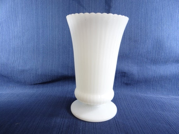 E O Brody Company Milk Glass Vase M5000 White Flower Vase