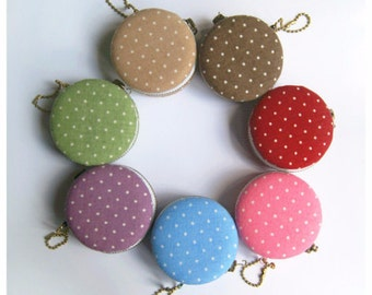 6.2cm Macaron Coin Purse / Mini Jewelry Box - Polka Dots