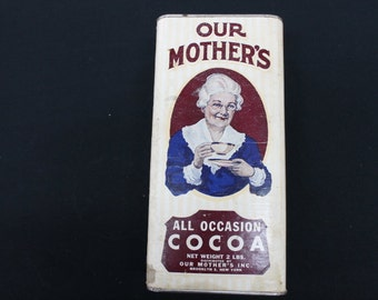 vintage cardboard Our Mother's All Occasion Cocoa