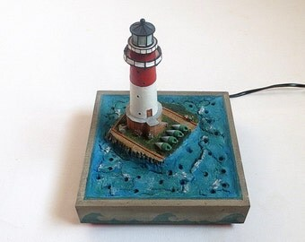 Nightlight Lighthouse, Nursery Decor, Children's Lamp