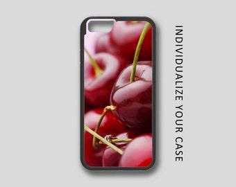 Cherry iPhone Case, Fruit iPhone Case, Cherry iPhone 6 Case, iPhone 6s Case, iPhone 5s Case, Phone Case, Edge Case, SE Case Protective