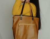 free shipping, brown leather bag with zipper, everyday leather bag, laptop bag