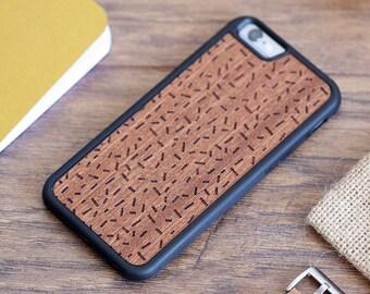 iPhone 6 Plus Wood Case - Rosewood iPhone 6 Plus Case - Grain - SHK-R-I6P-CONFETTI