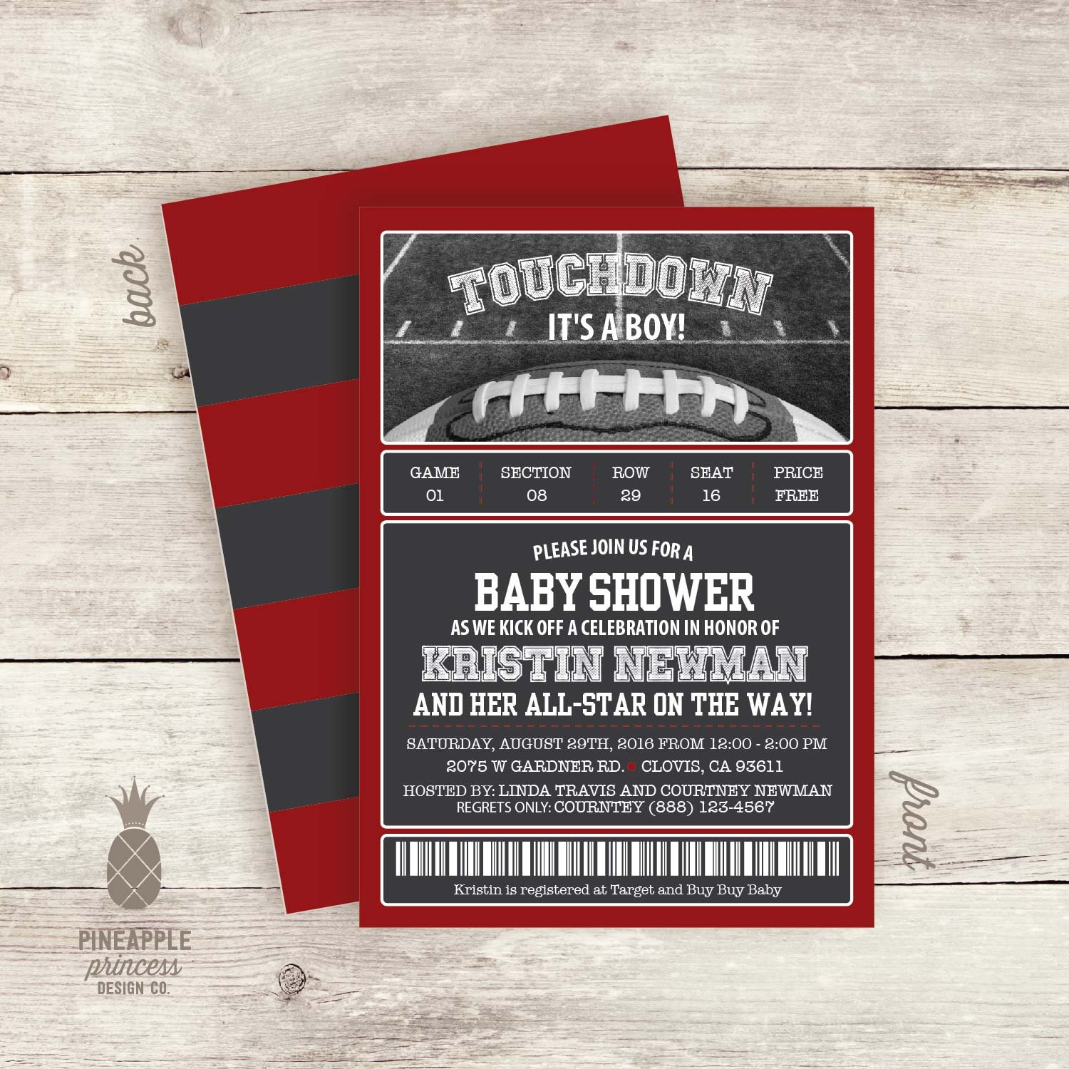 football baby shower invitations touchdown it 39 s a boy
