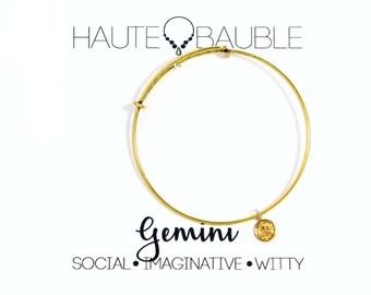 Gemini Zodiac Charm Bracelet