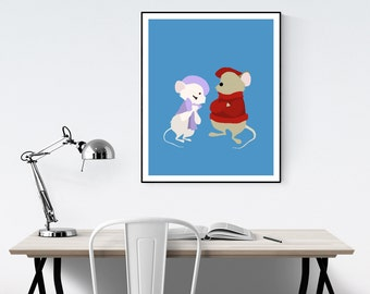 The Rescuers Minimalist Poster