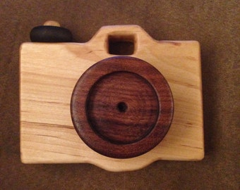 Handcrafted Wooden Toy Camera