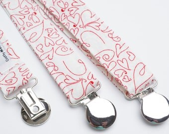 Suspenders - Valentines Hearts Adjustable Suspenders