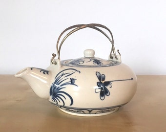 Lovely Blue and White China Teapot