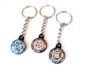 Supernatural Keychain - Anti possession Kecyhain - Chose from 12 Supernatural Plaid Designs