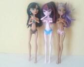 Monster Doll Lingerie 3 Pairs of Doll Panties, French Velvet Line